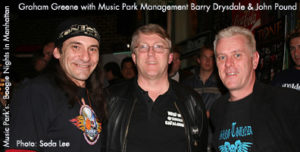 Music Park Management - Barry Drysdale and John Pound with MC Graham Greene